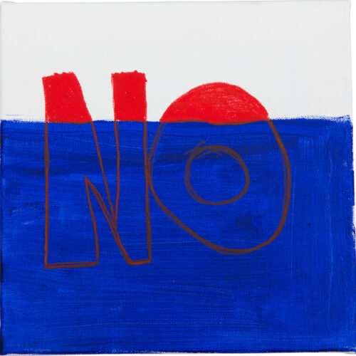 Felix Spiske – No (Acrylfarbe auf Leinwand)