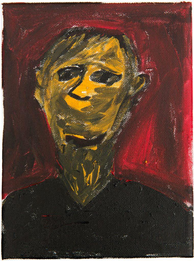 Felix Spiske – Mensch (Acrylfarbe auf Leinwand)