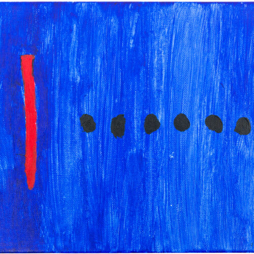 Felix Spiske – Strich Punkt (Acrylfarbe auf Leinwand)