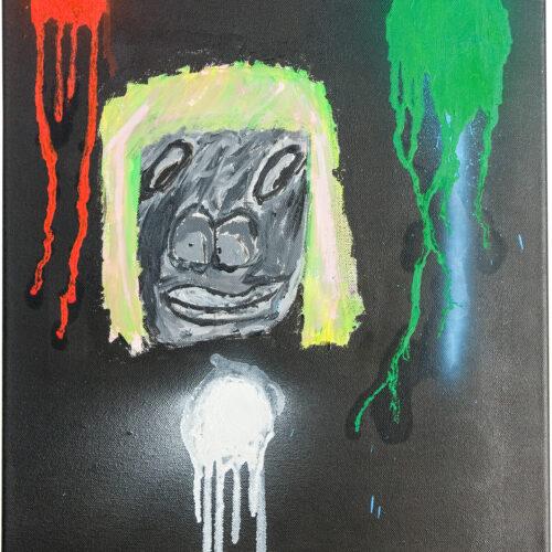 Felix Spiske – Gorilla (Acrylfarbe auf Leinwand)