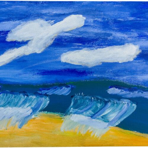 Felix Spiske – Meerblick (Acrylfarbe auf Leinwand)