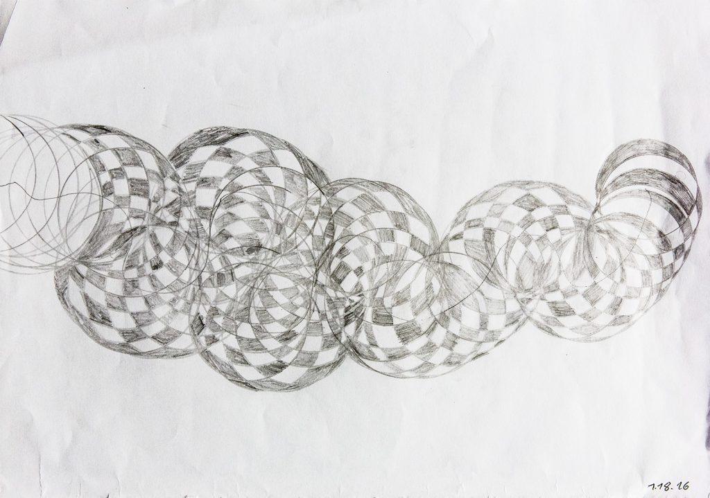 Felix Spiske – Figur (Bleistift auf Papier)