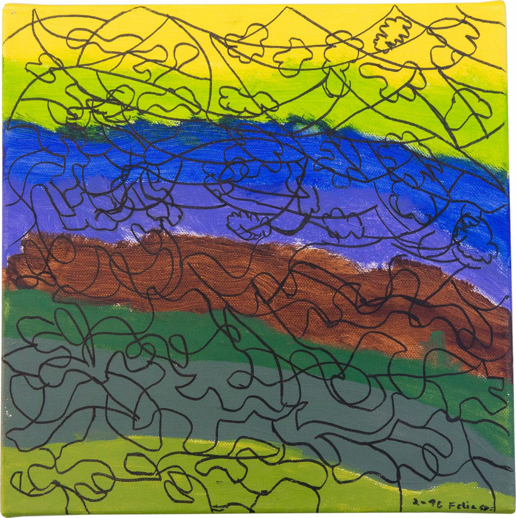 Felix Spiske – Chaos (Acrylfarbe auf Leinwand)